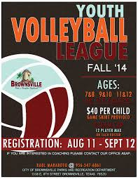 fall youth volleyball event poster inspiration fall youth volleyball