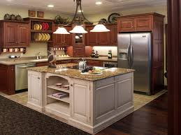 lovely ideas for kitchen islands. Furniture, White Kitchen Islands Feat Square Mahogany Wood Island Under Rwought Iron Chandelier Lovely Ideas For