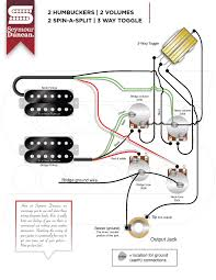 wiring diagrams seymour duncan part  2 hum 2 volume 2 spin a split 3 way toggle