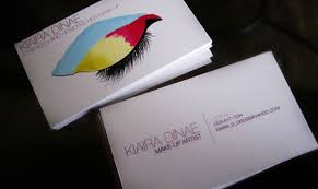 makeup business cards designs 25 interesting business card designs creativeoverflow
