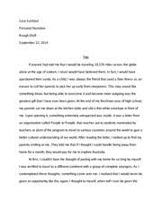 are too many people going to college sara karlstad professor  5 pages personal narrative