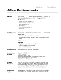 Activities Aide Sample Resume Interesting Sample Resume For Dietary Aide Kenicandlecomfortzone