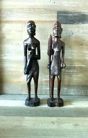 image 0 african wooden statues carved couple