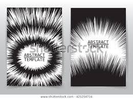 Business Brochure Flyer Design Template Radial Stock Vector