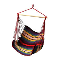hammock swing chair garden patio porch hanging cotton rope swing chair seat hammock swinging wood outdoor
