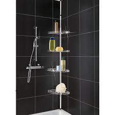 Build A Corner Bathroom Shelf In A Tile  Home Decorations - Modern bathroom shelving