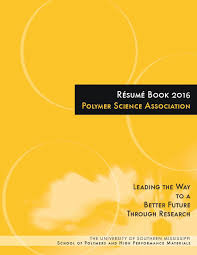 student resume book the waterborne symposium school of polymers high performance materials student resume book