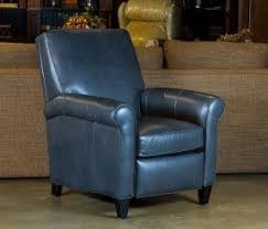 blue leather chair. Bradington Young Dark Blue Leather Recliner With Rolled Arms 1 Chair E