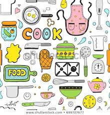 cooking utensils wallpaper.  Cooking Hand Drawn Doodle Seamless Pattern With Cooking Ingredient Food Bakery  And Kitchen Utensils Elements Inside Cooking Utensils Wallpaper S