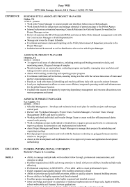 Associate Project Manager Resume Samples Velvet Jobs