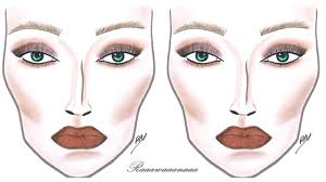 how to face chart makeup tutorial