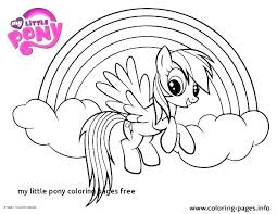 My Little Pony Coloring Pages To Print Pony Free Printable My Little
