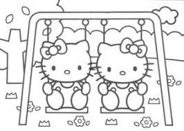 Hello Kitty Kleurplaten Animaatjesnl