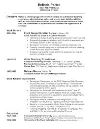 Best Ideas Of Sample Resume Porter Maintenance Objective Templates
