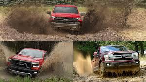 Comparison: 2018 Ford F-150 vs. 2019 Ram 1500 vs. 2019 Chevrolet ...