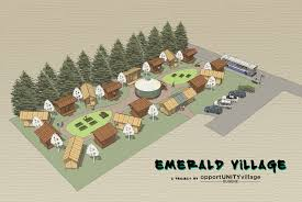 tiny house villages become sustainable housing for the homeless communities neighborhoods