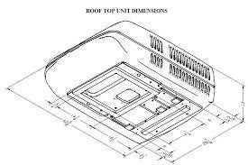 coleman 13500 btu rv roof air conditioner top unit 458 95 coleman mach 3 dimensions