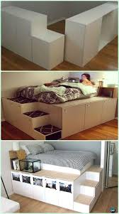 DIY IKEA Kitchen Cabinet Platform Bed Instructions - DIY Space Savvy Bed  Frame Design Concepts Instructions More on good ideas and DIY (Interior Diy  Ideas)