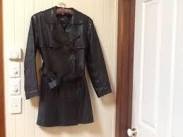 las vintage leather coat