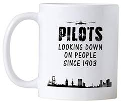 casitika airplane pilot gifts novelty mug for pilots looking down on people since 1903 great gift idea for your large mugs large coffee mugs from