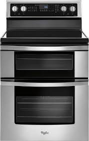 whirlpool 6 7 cu ft self cleaning freestanding double oven electric convection range stainless steel wge745c0fs best