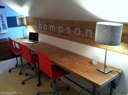 love home office space. Modern Home Office Desks Fresh Long Desk For A Family Space Love The Name On D