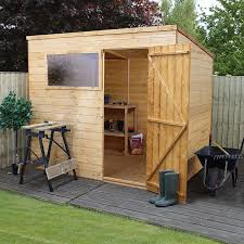 image to enlarge 8 x 6 waltons tongue and groove pent wooden shed