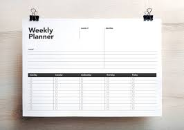 Weekly Planner Online Printable One Page Weekly Planner To Do List