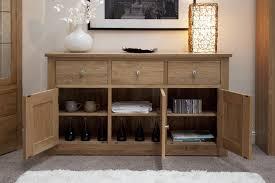 Modern Oak Living Room Furniture Kingston Solid Oak Living Dining Room Furniture Large Storage