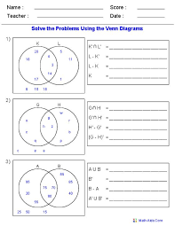Venn Diagram Set Notation Worksheet Alaa Sami Alaasami On Pinterest