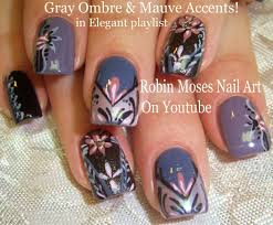 Show Off Your Skills With This Gray & Mauve Elegant Ombre Nail Design!