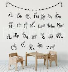 alphabet wall decals abc wall sticker