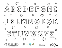 Printable Alphabet Coloring Pages Free A Z Pdf For Adults Sheets