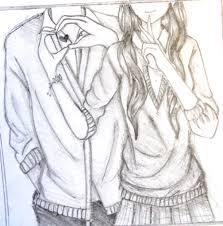 Cute Anime Couple Drawing 57 Couples Drawings Thanhhoacar Com