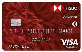 hsbc advance cashback credit card