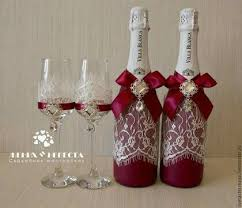 Ideas To Decorate Wine Bottles 100 best pahare images on Pinterest Champagne flutes Champagne 85