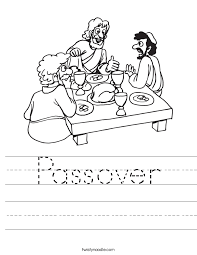 Passover Worksheet - Twisty Noodle