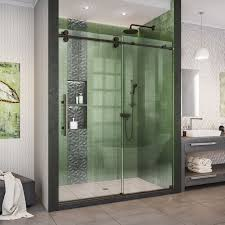 dreamline shdr 61607620 enigma xo 56 60 w x 76 h inch fully frameless enigma xo shower door 06