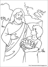 Small Picture free loaves and fishes coloring pages images about jesus