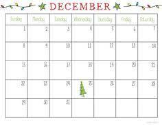 13 Best December 2018 Blank Calendar Images