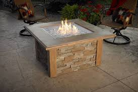 patio with square fire pit. Sierra Square Fire Pit Table Mocha Patio With