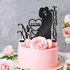 Personalized Wedding Cake Toppers Mr And Mrs Cake Topper Bride And