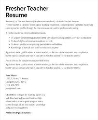 Teacher Resume Resume Cv Cover Letter