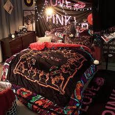 victorias secret velvet warm pink printing bedding set ly 1 300x300 victoria s secret velvet warm