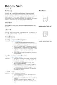 Sample Resume Investment Banking 12 Investment Banking Intern Resume Samples