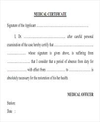 Sickness Certificate Format Sample Medical Certificate Formats 13 Examples In Pdf Word