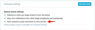 Enable and Disable Comments for Future Posts — Support — WordPress.com