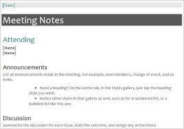 Word Meeting Notes Template The 12 Best Meeting Minutes Templates For Professionals