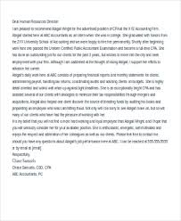 Letter Of Recommendation For Office Clerk 8 Sample Accountant Reference Letters Free Samples