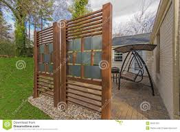 Diy Fence Backyard Patio With Diy Privacy Fence Stock Photos Image 38021263